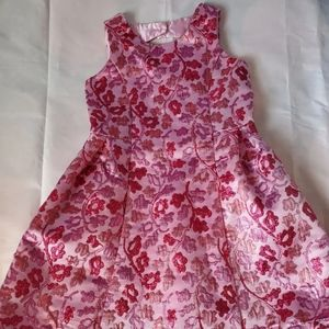 Pink and red floral 6x/7 dress